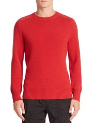 Tomas Maier Knit Cashmere Sweater Chino Melange Pomegranate