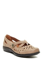 Cobb Hill Pippa Criss Cross Mary Jane Flat Beige