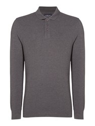 Criminal Men's Sb Jules Pique Polo Shirt Charcoal Marl
