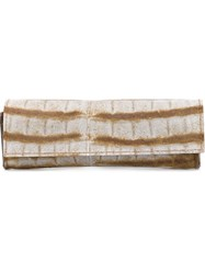 Luisa Cevese Riedizioni Long Front Flap Wallet Nude And Neutrals
