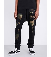 Haculla Militant Cotton Jersey Jogging Bottoms Black Camo