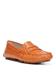 Sam Edelman Filly Leather Penny Loafers Orange