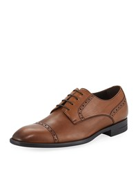 Ermenegildo Zegna New Flex Cap Toe Derby Shoes Brown