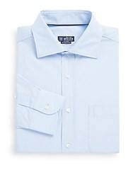 Breuer Solid Cotton Dress Shirt Blue