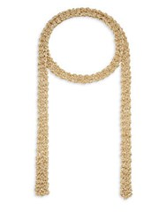 Jamierocks Hand Made Crochet Chain Scarf Necklace Gold