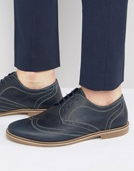 Red Tape Brogues In Navy Navy Blue