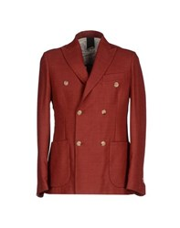 People Suits And Jackets Blazers Men Brick Red