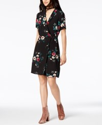 By Glamorous Floral Print Wrap Dress Created For Macy's Black Mage