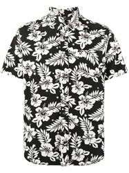 Uniform Experiment Hibiscus Print Short Sleeve Shirt Men Cotton Rayon 1 Black