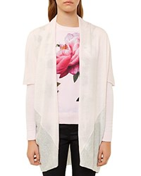 Ted Baker Cynthie Color Block Knit Wrap Baby Pink