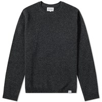 Norse Projects Sigfred Lambswool Crew Knit Grey