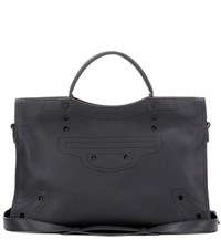 Balenciaga Blackout City Leather Tote