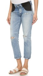 Citizens Of Humanity Emerson Maternity Slim Boyfriend Jeans Distressed Sebring