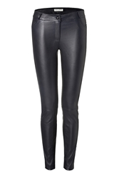 Each Other Leather Pants With Quilted Trim