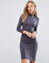 Vila Jersey Bodycon Dress Ebony Grey