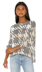Central Park West Arlo Pullover In Gray. Charcoal