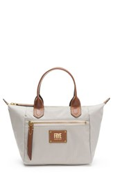 Frye Small Ivy Nylon Tote Grey Light Grey