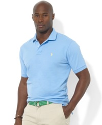 Polo Ralph Lauren Big And Tall Polo Shirt Classic Fit Mesh Blue