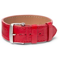 Tom Ford Croc Effect Leather Watch Strap Red