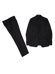 Valentino Wool And Silk Blend Suit Black
