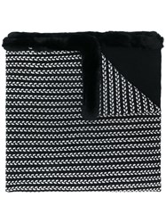 N.Peal Oversized Embroidered Scarf Black