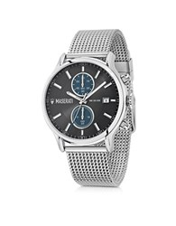 Maserati Epoca Silver Tone Stainless Steel Men's Chrono Watch