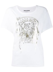 Zadig And Voltaire Foil Print T Shirt White