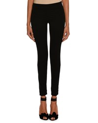 Tom Ford Wool Gabardine Stretch Ankle Zip Leggings Black