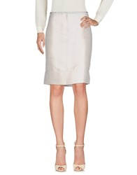 Cnc Costume National Knee Length Skirts Light Grey