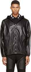 Givenchy Black Hooded Lambskin Jacket