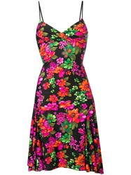 Amen Floral Print Dress Black