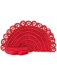 Nannacay Braided Loop Clutch Red