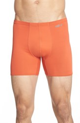 Men's Naked 'Active' Microfiber Boxer Briefs Burnt Orange