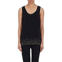 Foundrae Women's Studded Layered Top Black