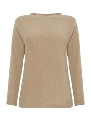 Marella Mecene Long Sleeve Jumper With Split Back Light Grey