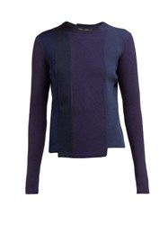 Proenza Schouler Panelled Knitted Sweater Blue Multi