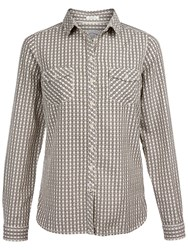 Fat Face Rosie Gingham Shirt Ivory Multi