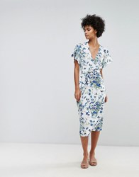 Warehouse Full Bloom Wrap Dress Multi