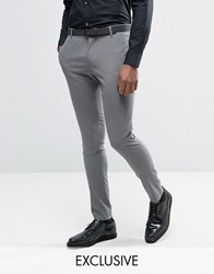 Religion Super Skinny Suit Trouser In Dogstooth Grey