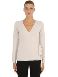 Nanushka Wool Blend Sweater W Wrap Closure Ivory