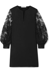 Givenchy Cady And Lace Mini Dress Black