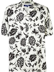 Comme Des Garcons Junya Watanabe Short Sleeve Floral Shirt White