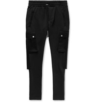 Amiri Slim Fit Tapered Twill Trimmed Loopback Cotton Jersey Cargo Sweatpants Unknown