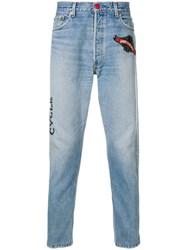 History Repeats Levi's Vintage Patches Jeans Blue