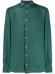 Mc2 Saint Barth Cutaway Collar Shirt Green