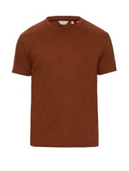 Gieves And Hawkes Striped Cotton Jersey T Shirt Brown