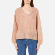 Gestuz Women's Cadence V Neck Jumper Maple Sugar Pink