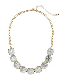 Fragments For Neiman Marcus Mini Statement Crystal Necklace Clear