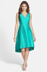 Women's Alfred Sung Satin High Low Fit And Flare Dress Azure