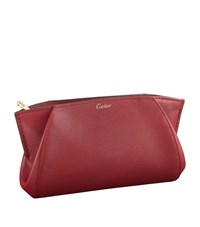 Cartier Small Leather C De Clutch Bag Red